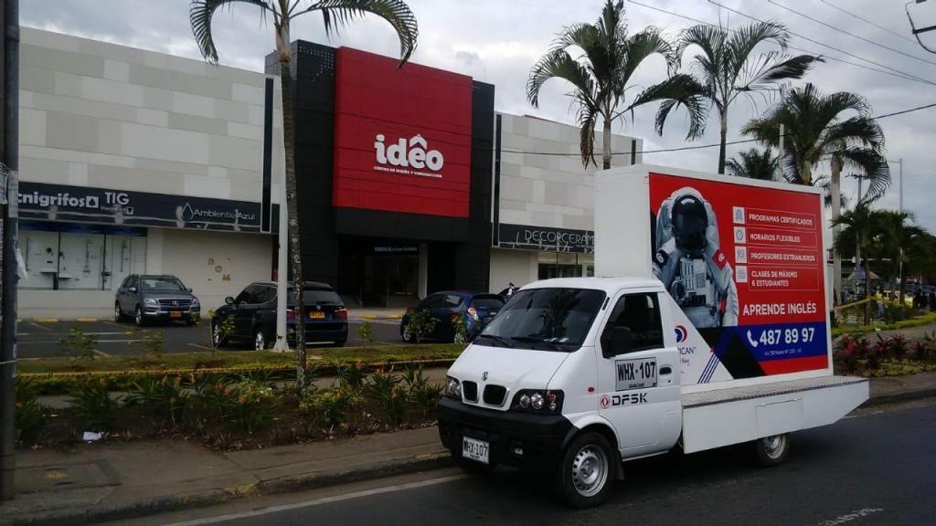 Alquiler de carro publicitario, carro valla, valle del Cauca, impresión digital, banner, vinilos, vallas, Cali