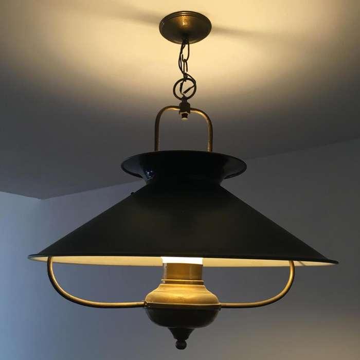 Lámpara de techo bronce estilo ingles