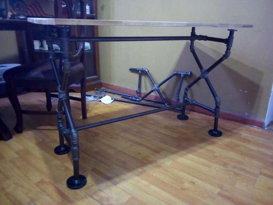 <strong>escritorio</strong> en tubería