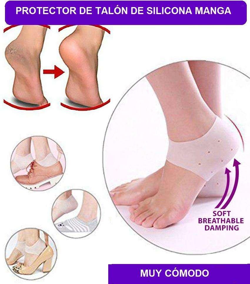 1 par de calcetines hidratantes para el tal/ón alivio del dolor de tal/ón y fascitis plantar protectores de tal/ón agrietado para tendinitis de Aquiles