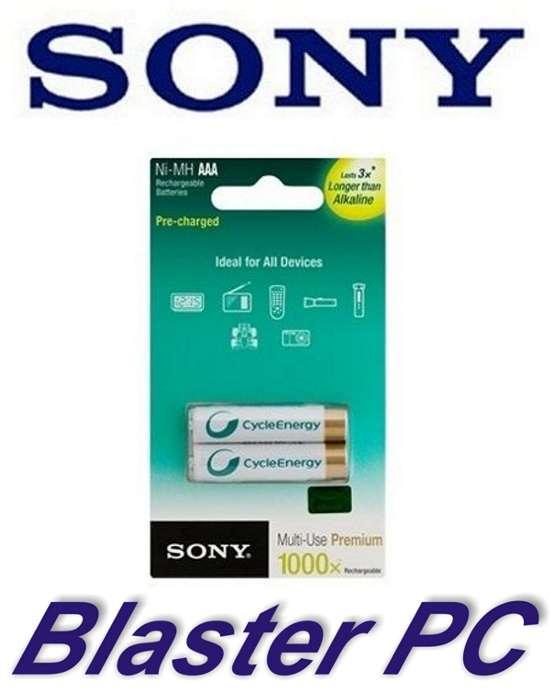 Pilas Recargables Sony AaA 800mah Made in Japón Zona Alto Rosario BLASTER PC