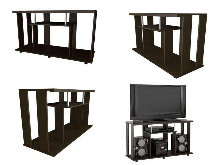 NUEVA! Mesa TV color miel 67,4 x 120,8 x 42 cm marca RTA Envío gratis*