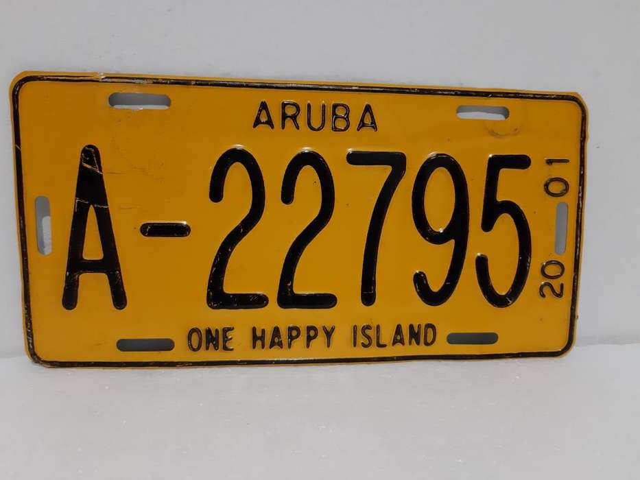 Placa De Carro Aruba