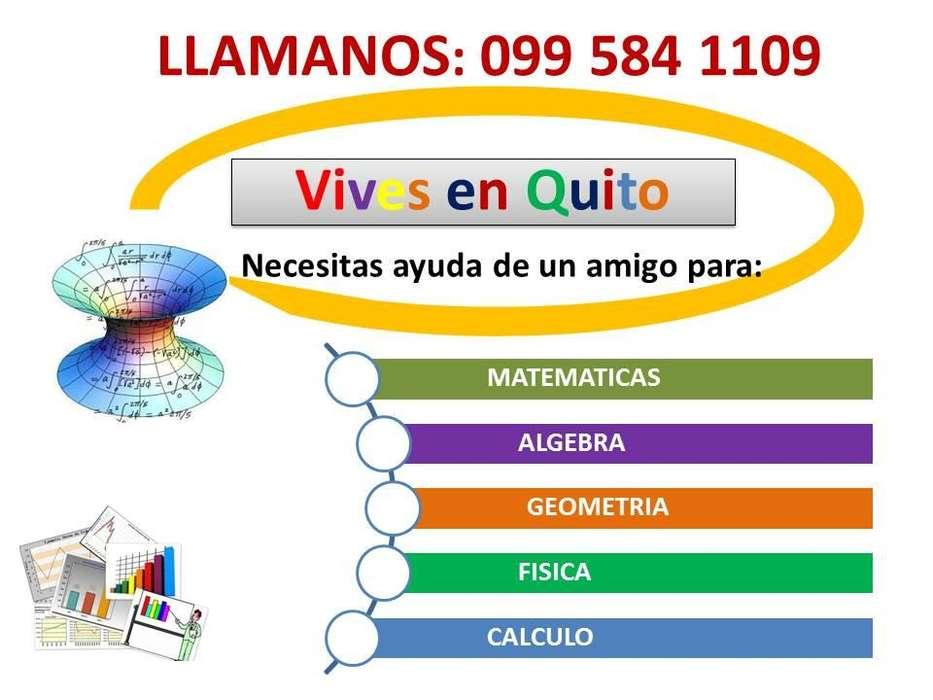 CLASES A DOMICILIO DE MATEMATICAS, ALGEBRA. LLAMAR AL: 0995841109