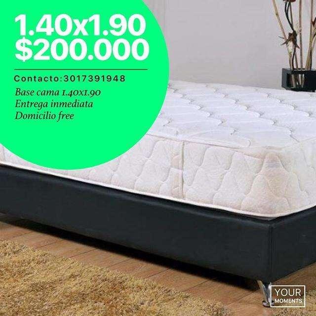 base cama entrega inmediata