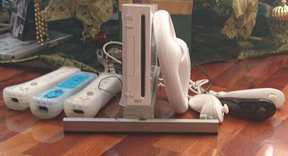 Nintendo Wii 3 controles volante juegos