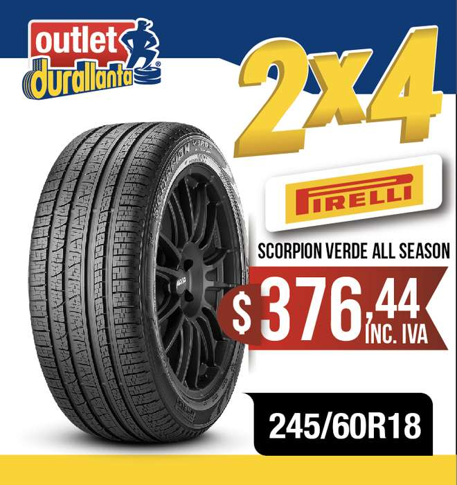 LLANTAS 245/60R18 PIRELLI SCORPION VERDE ALL SEASON EXPLORER EDGE VERACRUZ PILOTEDDIE BAUER CX9 PATRIOT