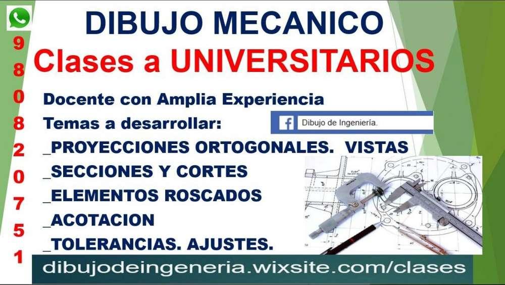 DIBUJO MECANICO. Clases Particulares a UNIVERSITARIOS. ASESORIA. TRABAJOS . AutoCAD 2019