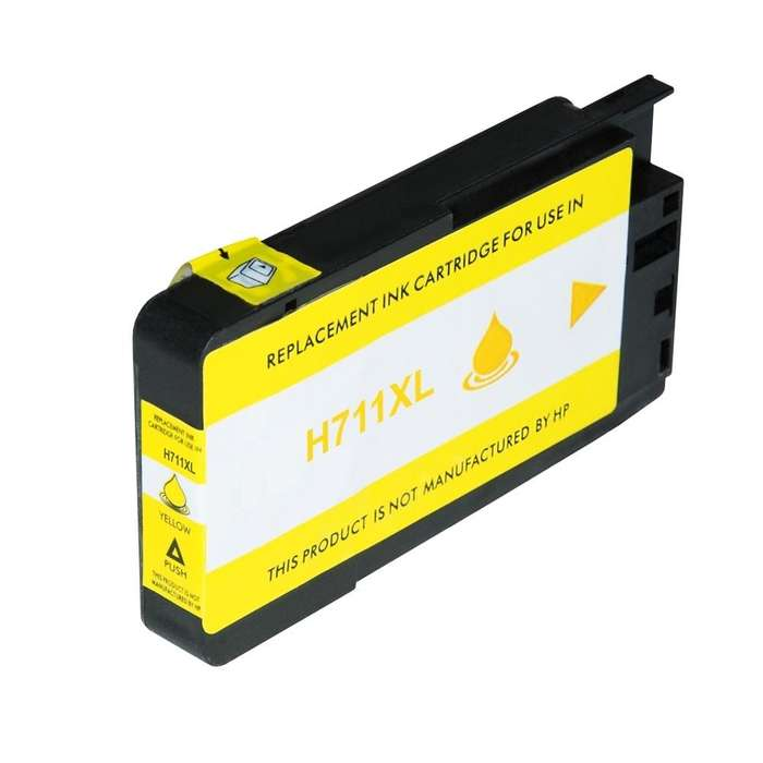 Cartucho generico HP 711 Yellow para plotter T120/T520