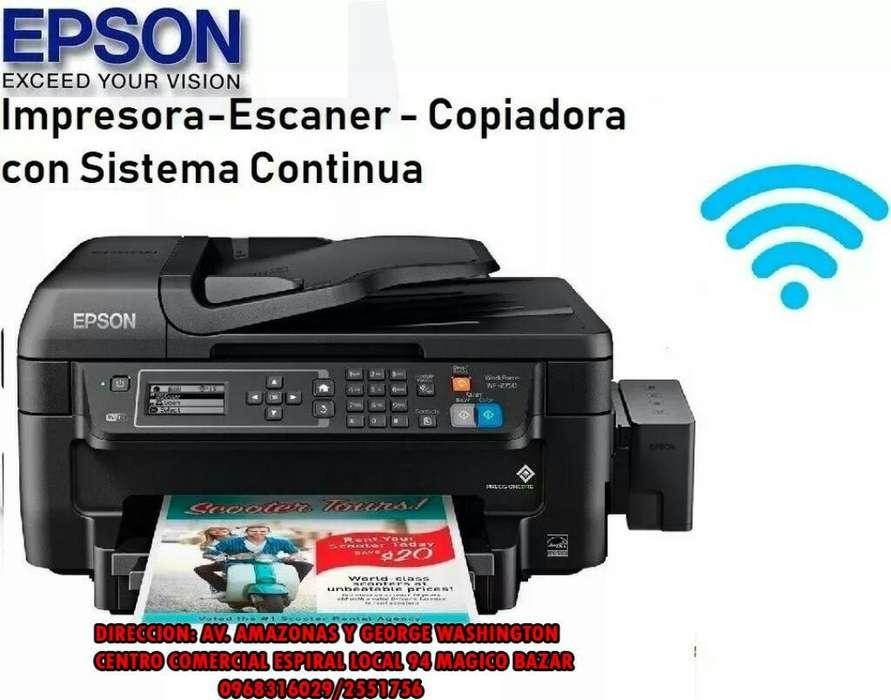 Impresora Epson Wf 2750 Wifi Duplex Adf