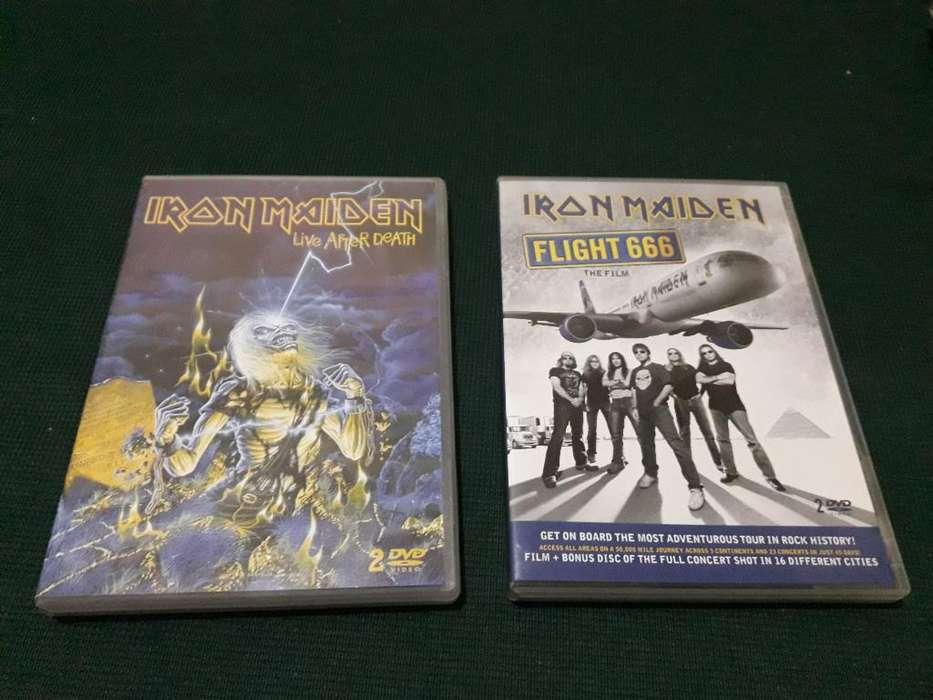 Lote Dvds Iron Maiden Metal Rock Video