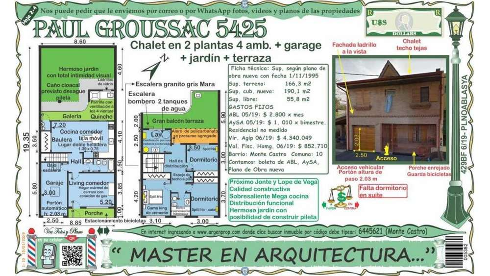 Paul Groussac 5400 - UD 419.900 - Casa en Venta