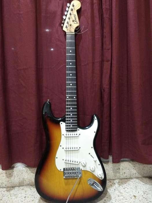 Guitarra Eléctrica Leonard Stratocaster Funda Correa