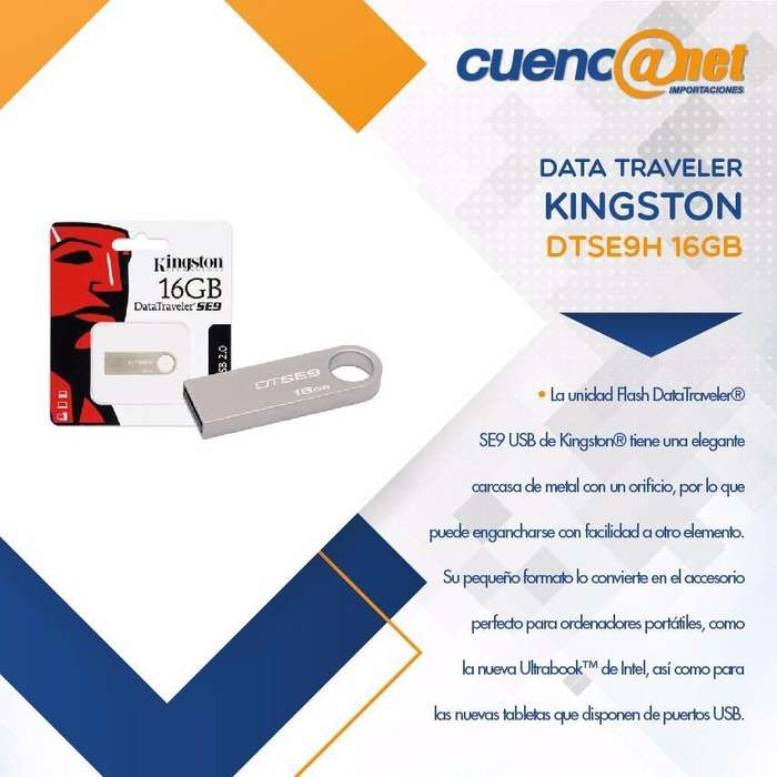 Data Travel Usb Dtse9h 16gb Kingston
