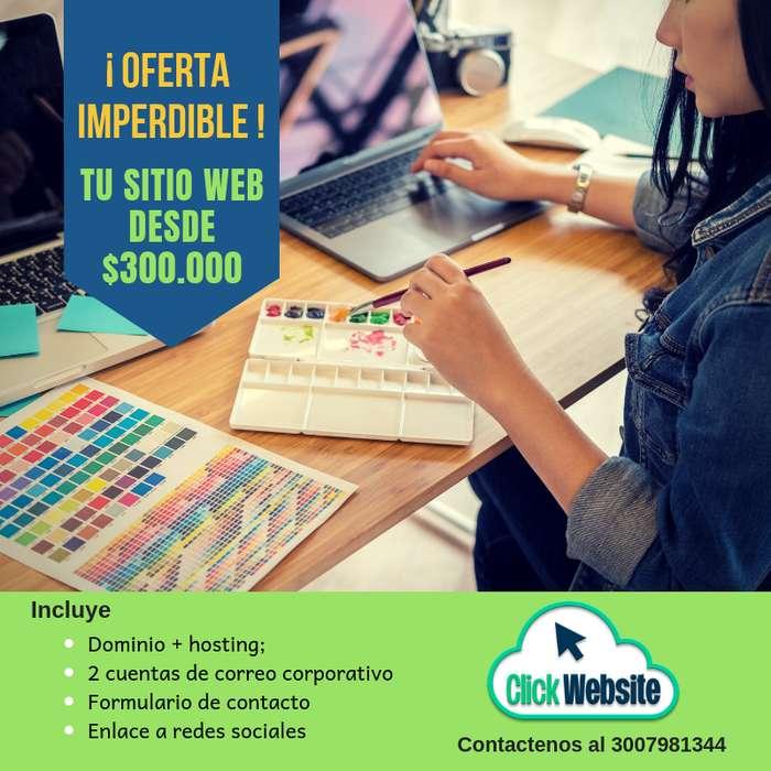 Tu sitio Web desde 300 mil pesos