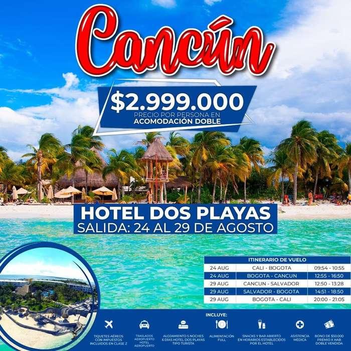 Planes a Cancun