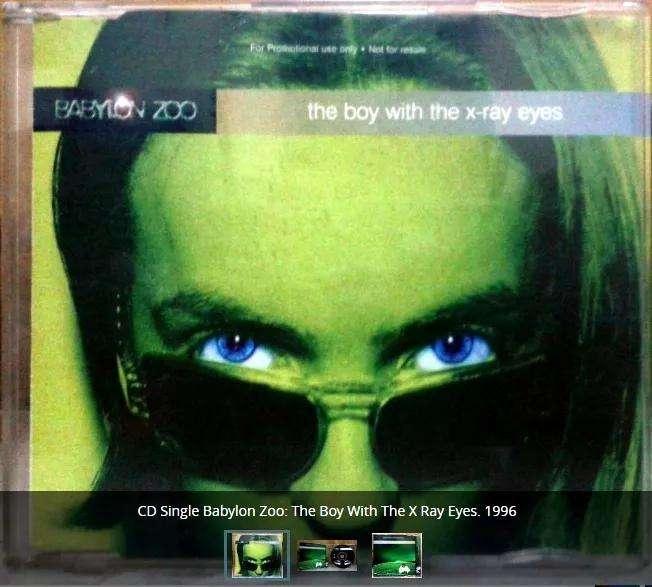 Cd Single The Boy With The Xray Eyes Babylon Zoo 1996