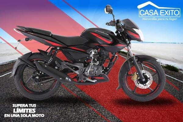 Moto Pulsar Ls135 Año 2019 135cc Color Negro/ Rojo / Azul Casa Éxito