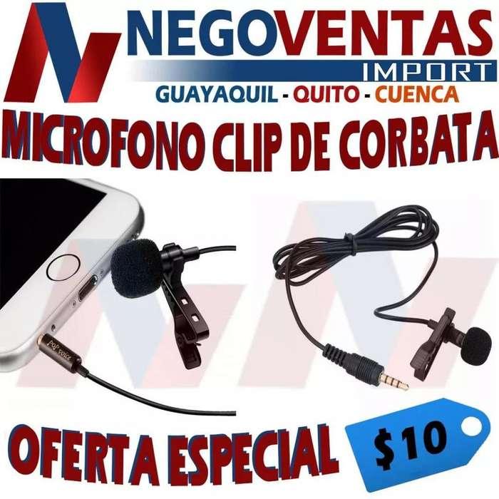 MICRÓFONO CLIP DE CORBATA PRECIO OFERTA 10,00
