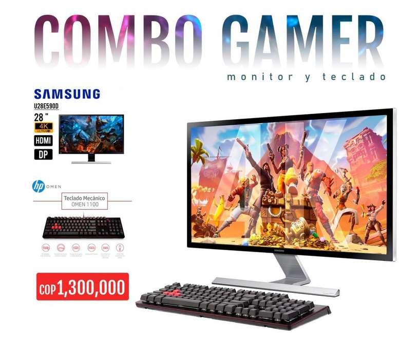 Combo Gamer / Monitor samsung 4k 28