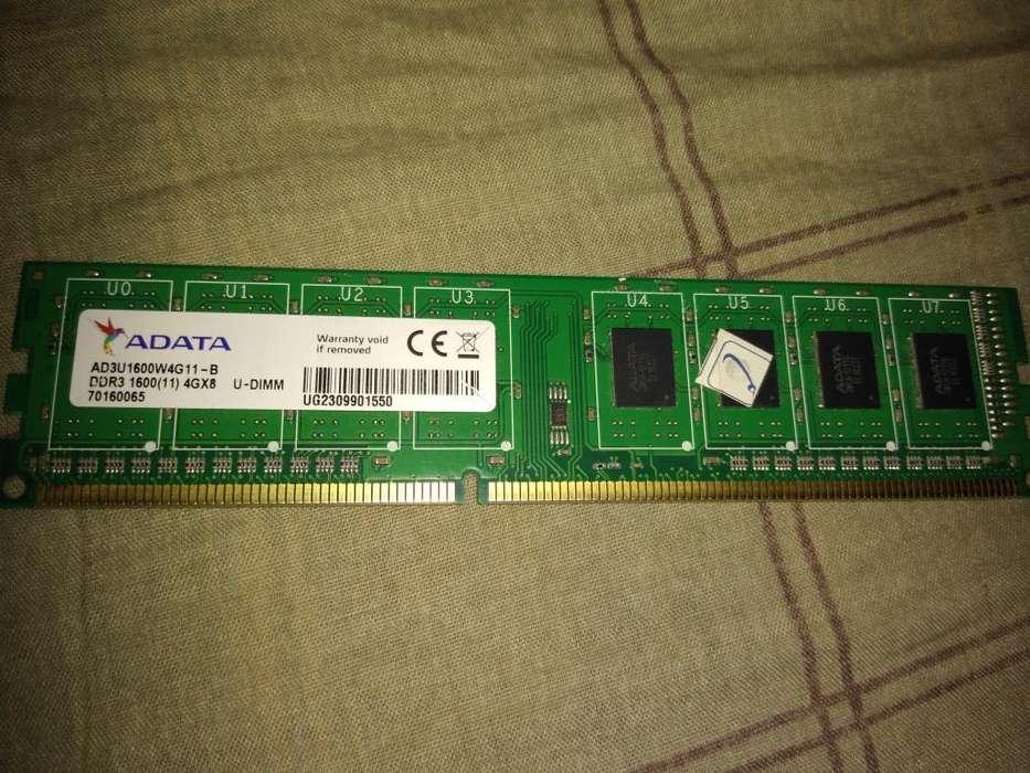 Memoria Ram de Pc 4 Gb Ddr3 1600 Mhz
