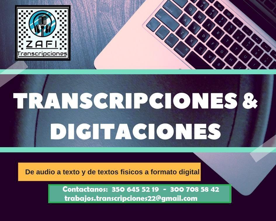 Transcripciones y digitaciones de audiencias, entrevistas, asambleas, actas y más.