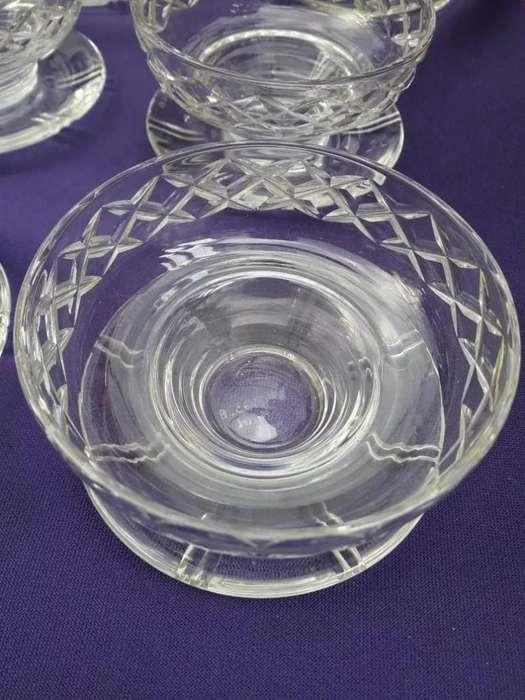 6 compoteras de cristal inglesas marca Stuart