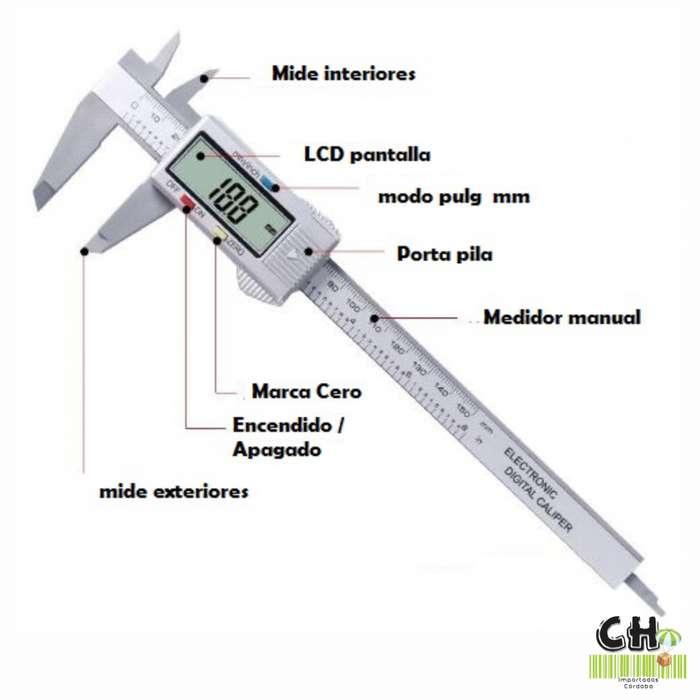 Calibre Digital (150 Mm) - Mm Y Pulg c/ Visor Grande