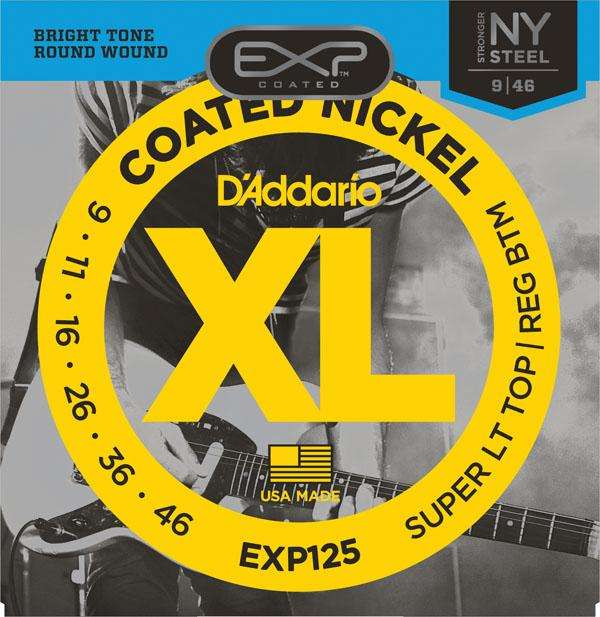 Cuerdas Guitarra DADDARIO EXP125 Eléctrica COATED NICKEL