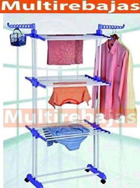 resitente movil secadero para tender ropa hasta 150 prendas de acero inoxidable