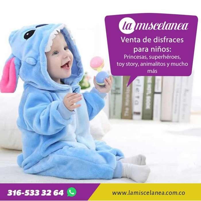 Venta de disfraces para bebés y niños