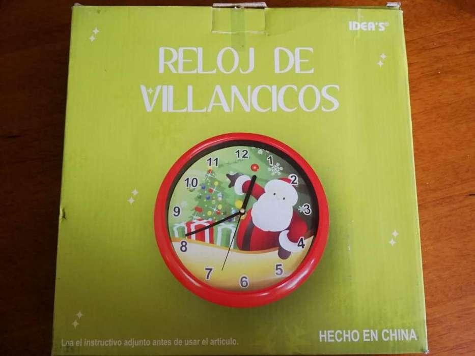 RELOJ DE PARED VILLANCICOS