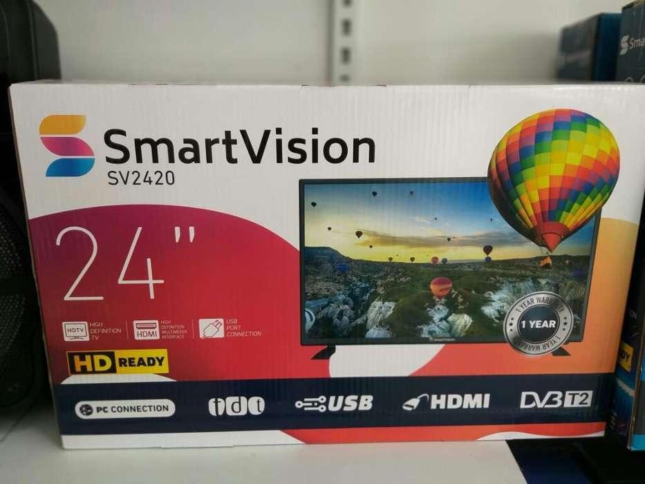 <strong>televisor</strong>es Smartivision de 24 Pulgadas