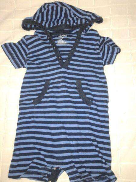 Enterito Capucha Baby Gap 612m Rayado Use 1 Vez Perfecto