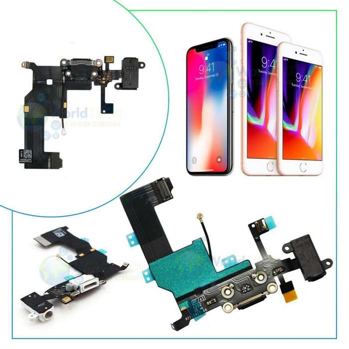 Flex De Carga Iphone 4 4s 5 5s 5c Se 6 6s Plus 7 8 Auricular