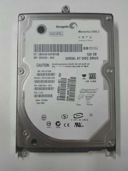 HDD DE 120 GB. SATA