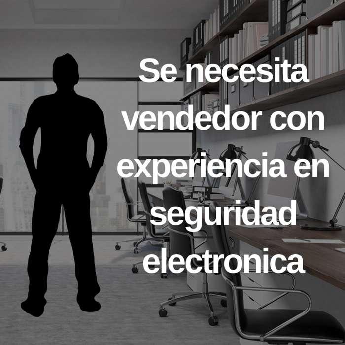 Oferta de trabajo para vendedor o vendedora con experiencia en seguridad electrónica