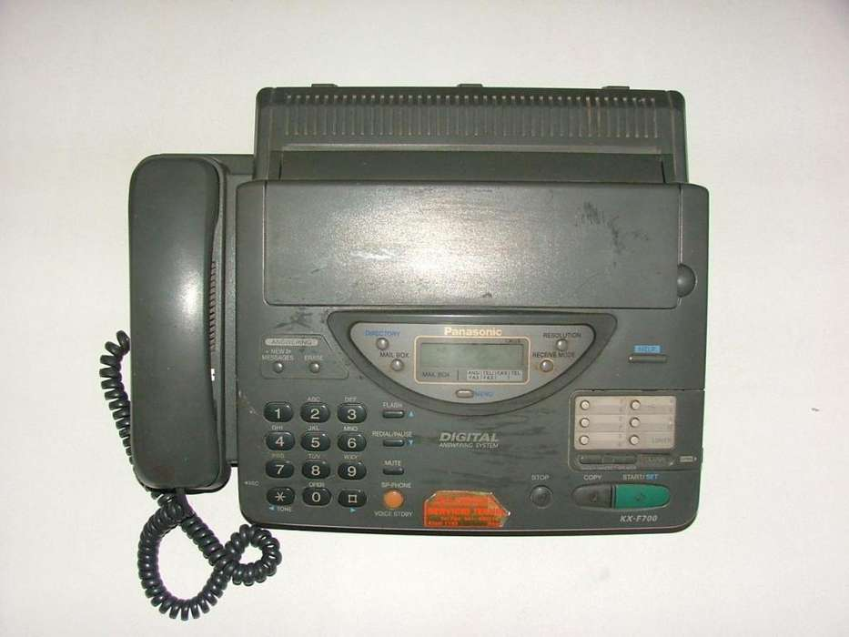 FAX PANASONIC MODELO KXF700 CON TRANSFORMADOR IMPECABLE