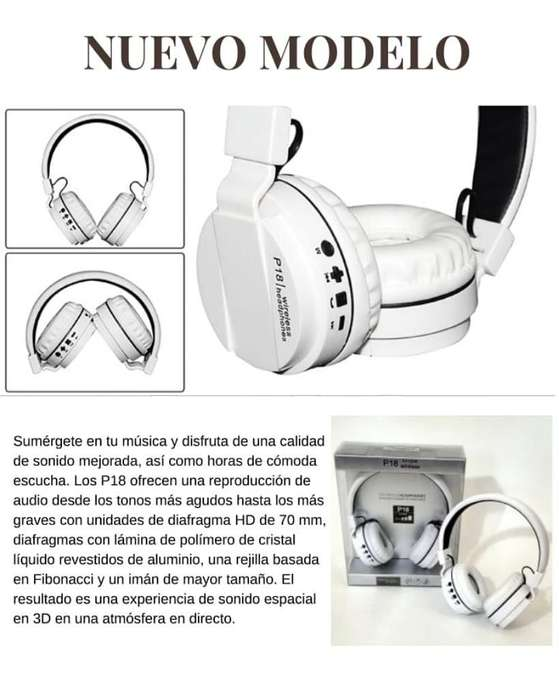 Audifonos P18 <strong>bluetooth</strong> Alta Calidad