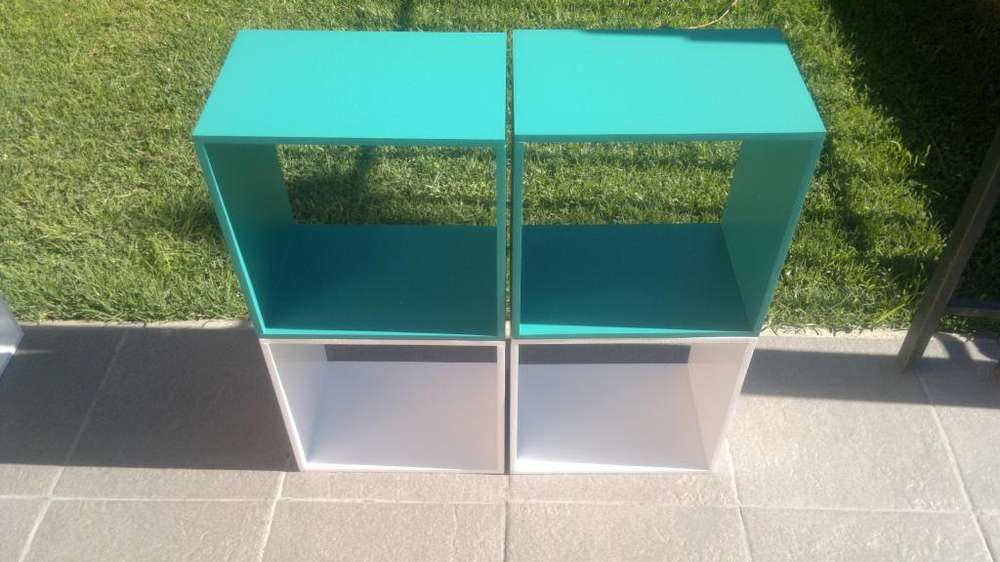 Cubos MDF 9MM Pintados yLaqueados,o sin pintar para colgar o apilar