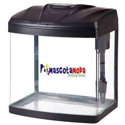 Acuario importado completo con iluminación filtro tapa y frente redondeado