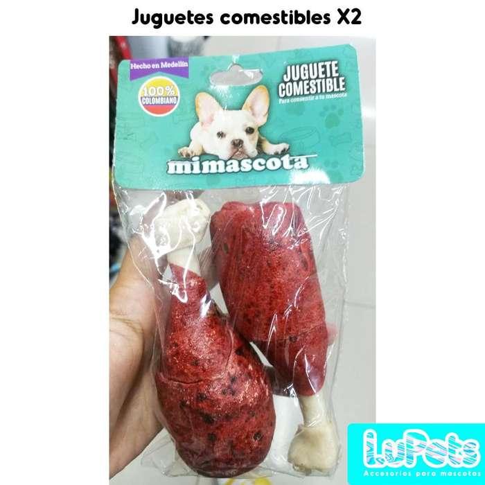 juguete comestible x2 perro mascota
