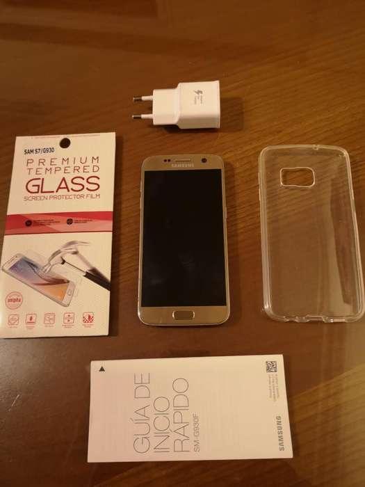 Samsung Galaxy S7 con Funda Y Vidrio