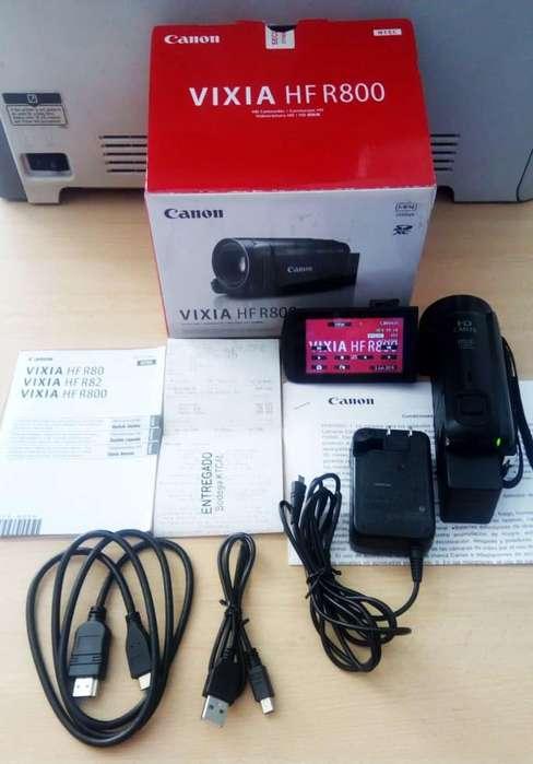 Cámara Canon Hf R 800 Full HD 1920 x 1080 Pantalla Táctil –con factura y garantía de fábrica