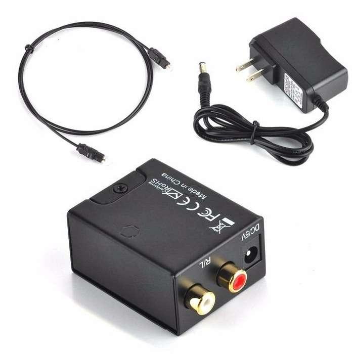Convertidor de audio optico a Rca Analogico