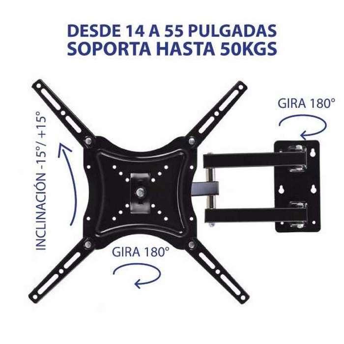 Soporte Para Tv Giratorio 14 A 55 Pulgadas Hasta 50kg