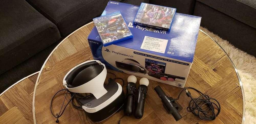Playstation Vr Casco Virtual Completo