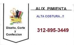 Diseño, Corte y Confeccion : ALIX, Alta Costura...!!