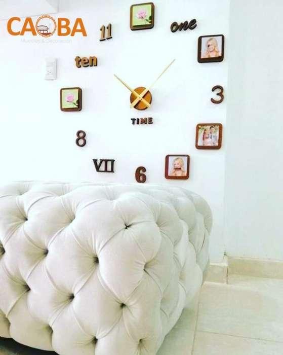 Reloj 3d Decorativo