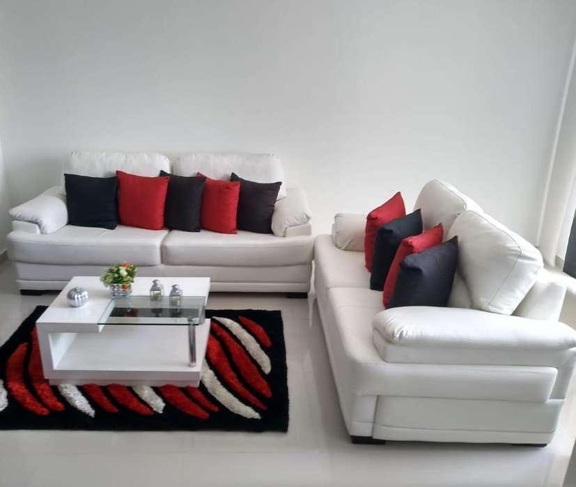 2 Sofas, Alfombra Y Mesa de Centro